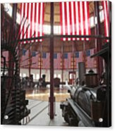 In The Roundhouse At The B And O Railroad Museum In Baltimore Acrylic Print