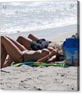 In The Sand At Paradise Beach Acrylic Print