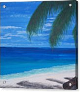In The Shade Of A Palm Acrylic Print