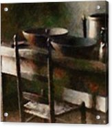 In The Shaker Kitchen Acrylic Print