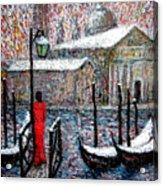 In The Snow In Venice Acrylic Print