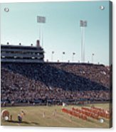 In This Vintage 1955 Photo The University Of Texas Longhorn Band Acrylic Print