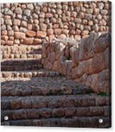 Inca Steps At Chinchero  Acrylic Print