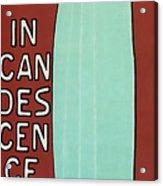 Incandescence Par Le Gaz  1892 Acrylic Print