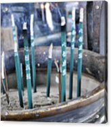 Incense In Nara Acrylic Print