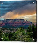 Incoming Storm Over Sedona Acrylic Print