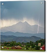 Incoming Storm Panorama View Acrylic Print