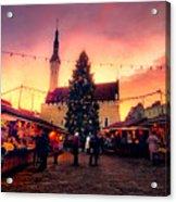 Incredible Christmas Market In Tallinn, Estonia Acrylic Print