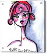 Incredulous Jane Acrylic Print