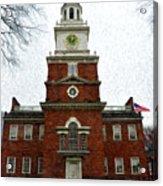 Independence Hall In Philadelphia Acrylic Print