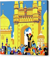 India, Castle, People, Street Acrylic Print