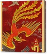 India, China And Japan, The Bird Of Paradise Countries - Air France Vintage Airline Travel Poster Acrylic Print