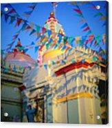 India Gate Woman Acrylic Print