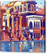 India, Indian State Railway Poster, Muttra Acrylic Print