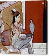 India: Lady & Hawk, C1570 Acrylic Print