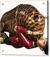 India: Tiger Attack Acrylic Print
