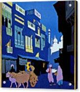 India Travel Poster Acrylic Print