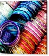 Indian Bangles Acrylic Print by Elizabeth Hoskinson