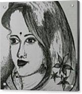 Indian Beauty  Acrylic Print