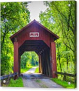 Indian Camp Covered Bridge Acrylic Print