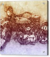 Indian Chief 2 - 1922 - Vintage Motorcycle Poster - Automotive Art Acrylic Print
