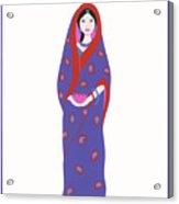 Indian Girl Acrylic Print
