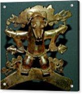 Indian Gold Acrylic Print
