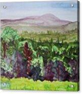 Pete Gay Mountain, Indian Lake Overlook Panorama 1 Acrylic Print