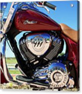 Indian Moto Blue Sky 81116 Acrylic Print