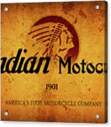 Indian Motocycle 1901 - America's First Motorcycle Company Acrylic Print