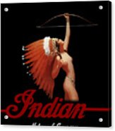 Indian Motorcycle Company Pinline Acrylic Print
