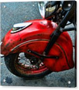 Indian Motorcycle Fender In Red Acrylic Print