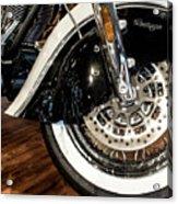 Indian Motorcycle Wheel Acrylic Print