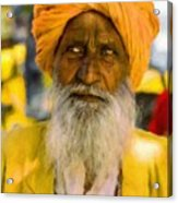 Indian Old Man Acrylic Print