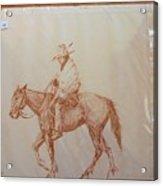 Indian On Horse Acrylic Print