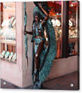 Indian On The Square Sante Fe Nm Acrylic Print