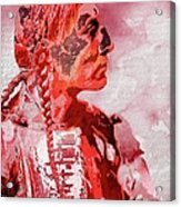 Indian Red Acrylic Print