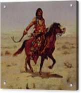 Indian Rider Acrylic Print