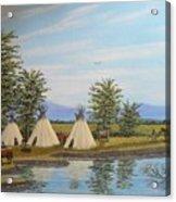 Indian river camp Acrylic Print