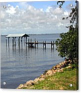 Indian River In Indialantic Florida Acrylic Print