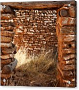 Indian Ruins Doorway Acrylic Print