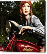 Indian Scout Acrylic Print