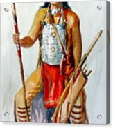 Indian With Spear And Arrows Acrylic Print
