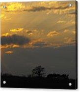Indiana Farm Sunset 3 Acrylic Print