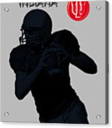Indiana Football Acrylic Print