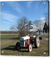 Indiana Hwy 63 South Vintage Ford Tractor Color Version Acrylic Print