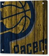 Indiana Pacers Wood Fence Acrylic Print
