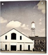 Indiana Warehouse Acrylic Print by Amber Flowers
