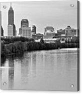 Indianapolis Charcoal Panoramic Acrylic Print