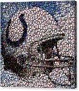 Indianapolis Colts Bottle Cap Mosaic Acrylic Print